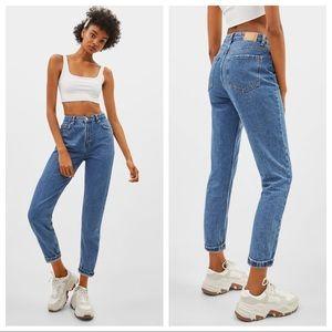 NWOT Bershka high waist mom jeans sz 4 (i805)